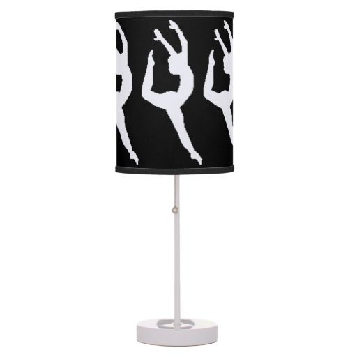 White on Black Gymnastics Table Lamp