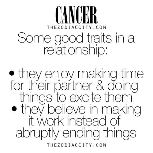 Dating a cancer sign male