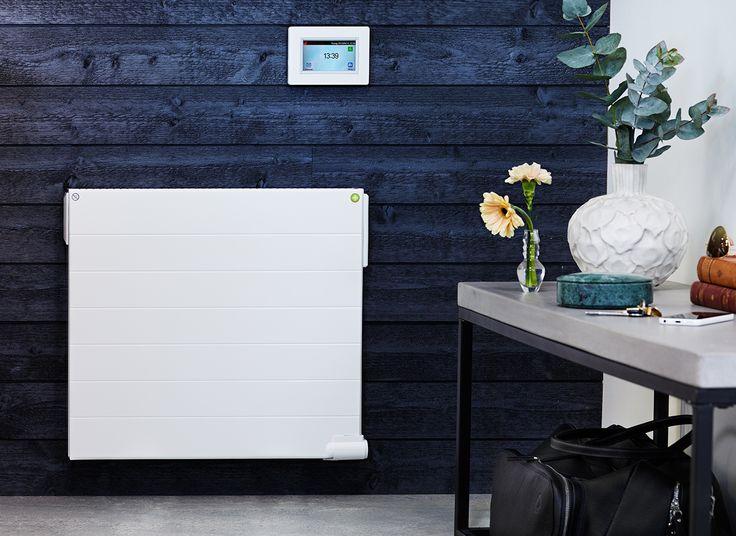 Yali Ramo har intelligenta egenskaper – öppet-fönster funktion och en elektronisk termostat. Radiatorn kan styras med en digital display och anslutas till trådbundet system, trådlöst system eller WiFi. LVI TempCoTouchE3 kopplad till Yali Ramo