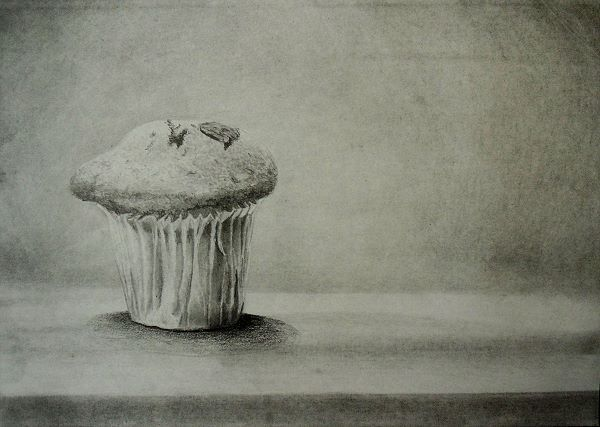 How to draw a cupcake in pencil online art lessons