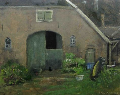 Nobody home. Hummelo, Holland., painting by artist Rene PleinAir