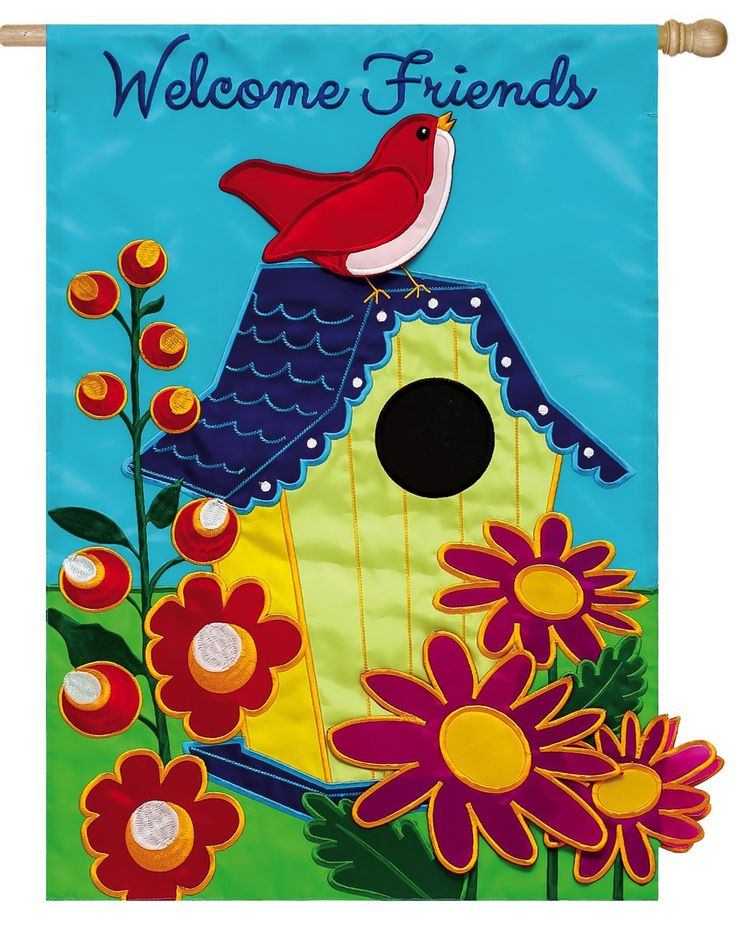 13 Best Images About Bird House Flags And Garden Flags On
