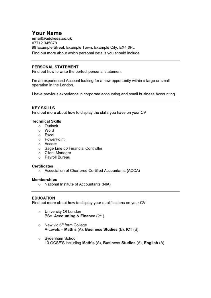 Cv Template Ireland Cv template, Templates, Resume format