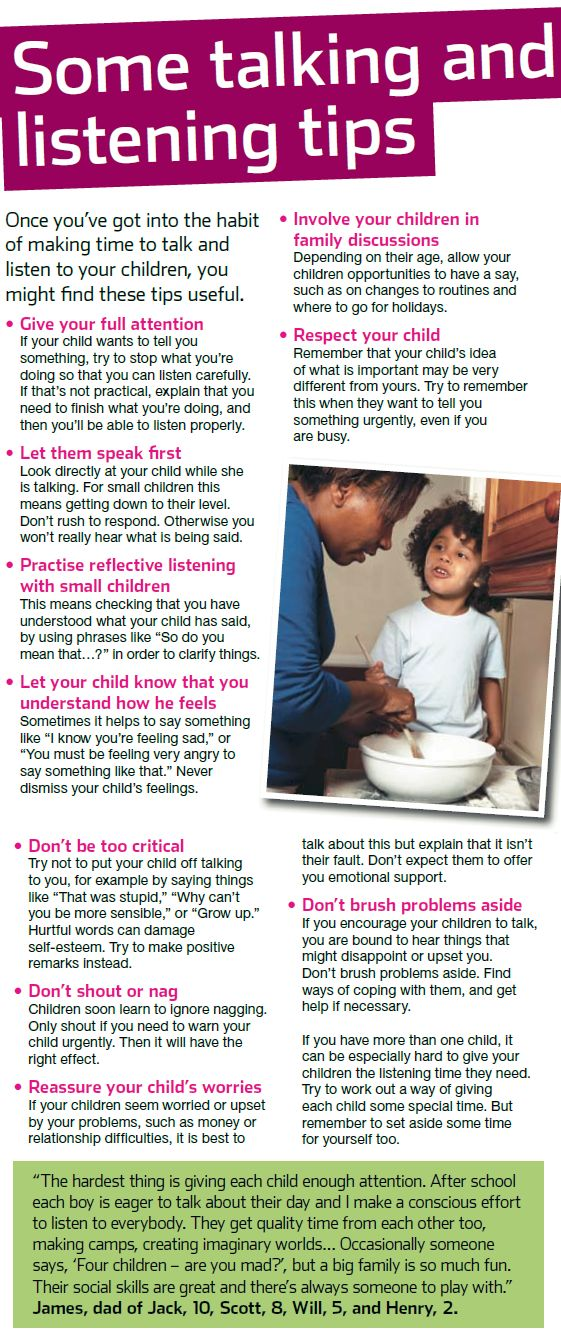 There are many ways to improve communication with your children. Here are just a few of our tips - you can see the full NSPCC guide here: www.nspcc.org.uk/...