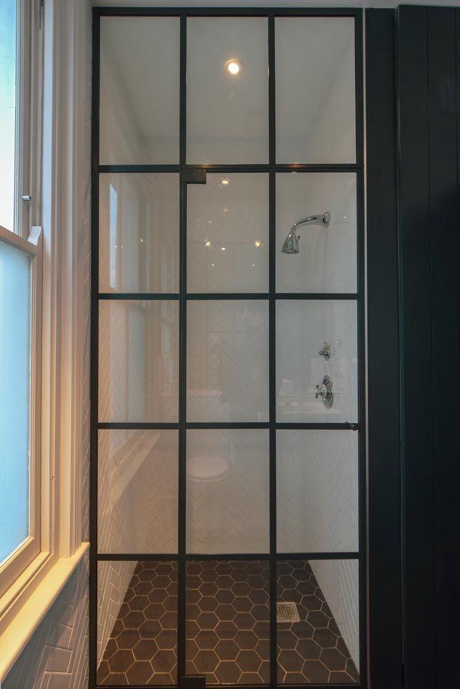 Bespoke Crittall Style Shower Door From Creative Glass Studio In London With Images Shower Doors Framed Shower Door