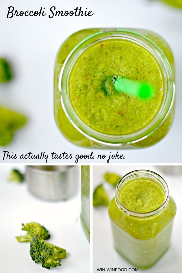 Broccoli smoothie! A surprisingly delicious way to enjoy this veggie even if you're not a broccoli fan.