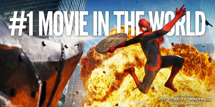 Thanks for making The Amazing Spider-Man 2 the #1 movie WORLDWIDE! Sincerely, Your friendly global Spider-Man.