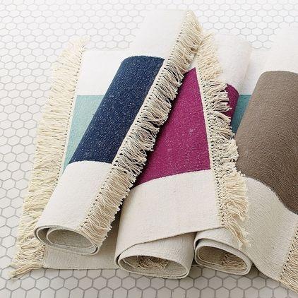 powder room?   contemporary bath mats by Serena & Lily