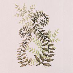 Flower Stencils   Curly Ferns Floral Stencil   Royal Design Studio