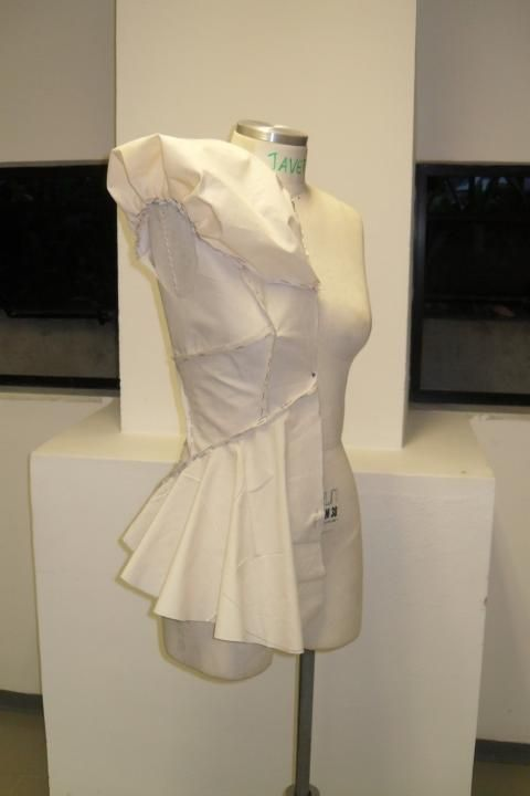 Fashion Design - draping on the stand; garment construction; patternmaking; moulage; sewing & fabric manipulation