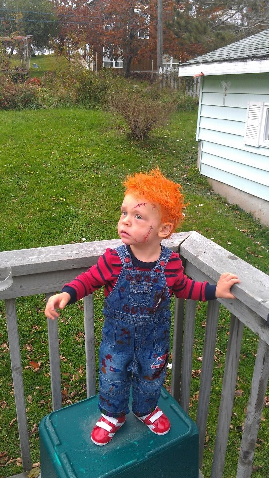 Chucky Halloween Toddler Costume  Considering this for Ryan this year... @Jamie Heart  Thanks James! I love it!