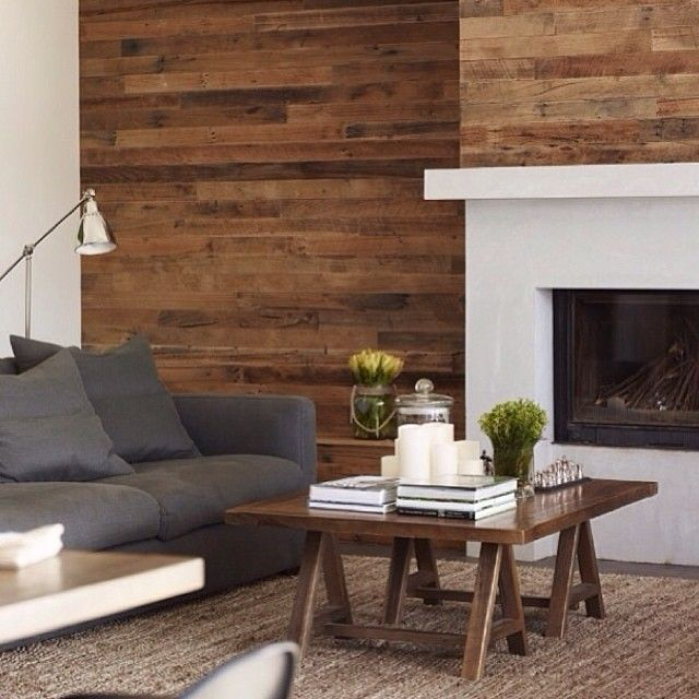 Wood Feature Accent Wall Ideas Using Flooring: Decorate! CONTEMPORARY