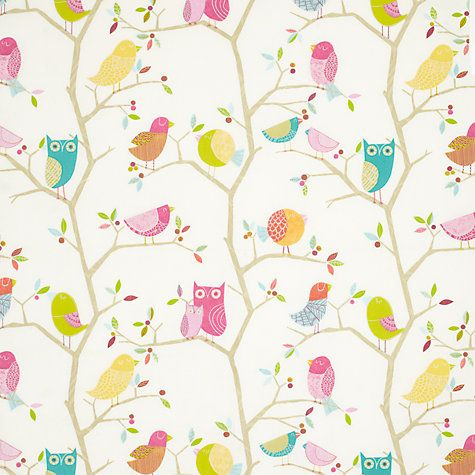 Buy Harlequin What A Hoot Furnishing Fabric, Pink Online at johnlewis.com