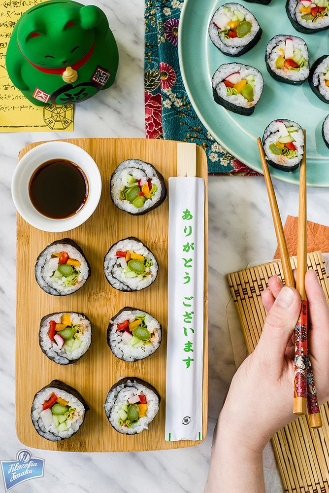 Sushi ze szparagami
