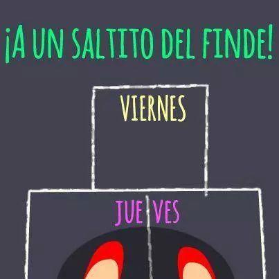A un saltito del viernes!! Que tengáis un bonito jueves!! www.secondbaby.org Imagen vía Pinterest