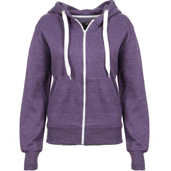 Purple Melange Effect Hoody ($18) ❤ liked on Polyvore featuring tops, hoodies, jackets, sweaters, outerwear, purple hoodies, zip up hoodies, hoodie top, purple zip up hoodie and purple hooded sweatshirt