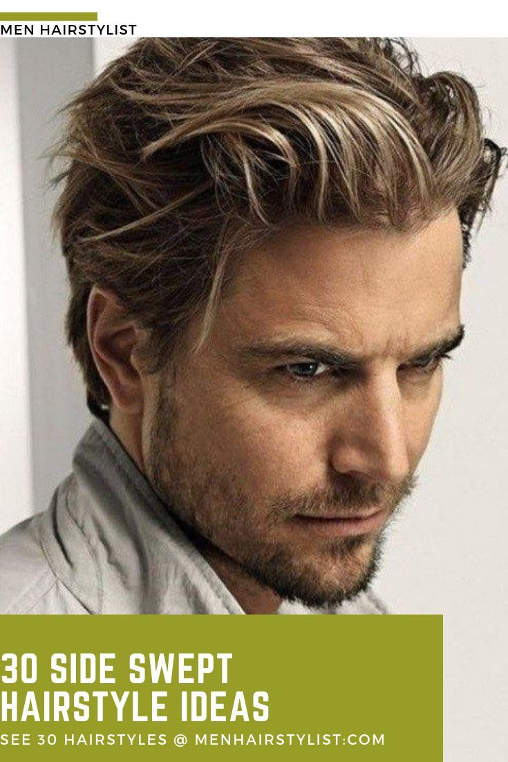 Men S Hairstyle Medium Lengths in 5  Medium hair styles, Side