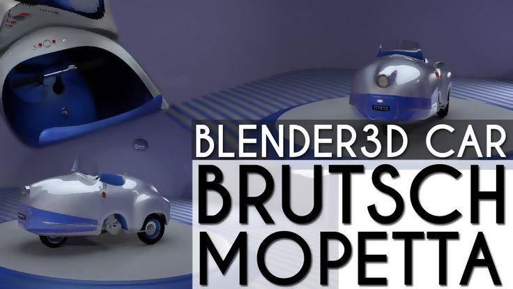 Turntable #animation of #Brutsh Mopetta #3d #car #model made with #blender3d