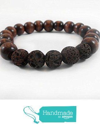 Lava Rock and Dark Wood Bracelet, 10mm Essential Oil Diffuser Bracelet, Lava Rock and Dark Wooden Bead Bracelet from The Paper Poppy Shop http://smile.amazon.com/dp/B016C2FXZQ/ref=hnd_sw_r_pi_dp_Y7efxb111EKZR #handmadeatamazon