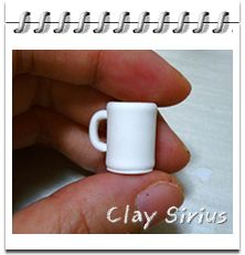 Picture tutorial for making a miniature coffee cup and donuts in poly clay. There are written instructions, but they are in Japanese. The pictures should be enough though.
