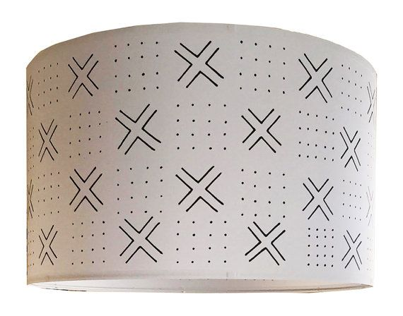 Elevate Your Space With This Statement Light Fixture. Combining A  Traditional African Print Textile With A Modern Drum Shape, Behold  Brooklyn Chic Decor ...