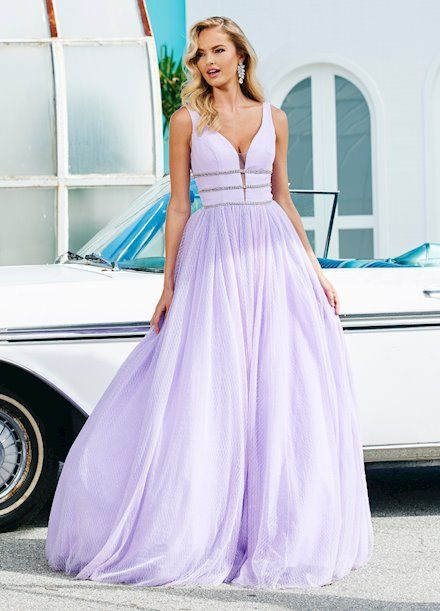 d5ef14662f7 Ashley Lauren Glitter Tulle Ball Gown Prom 2019