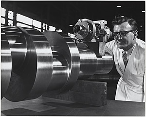 Quality control at Vickers-Ruwolt, Melbourne 1960.  Photograph by Wolfgang Sievers.
