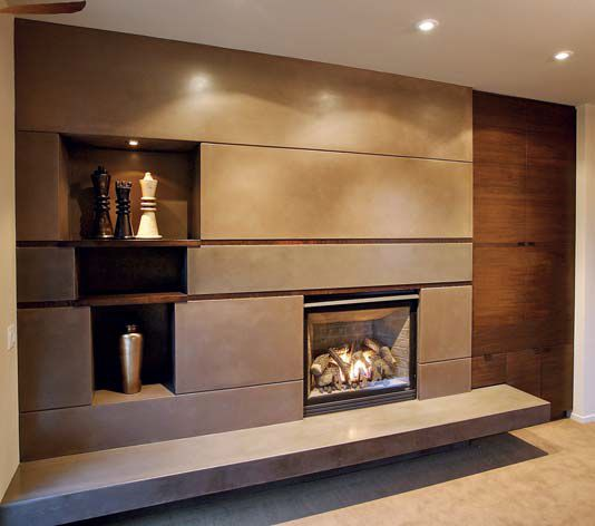 concrete rectangles fireplace fireplace surrounds flying turtle cast concrete modesto ca