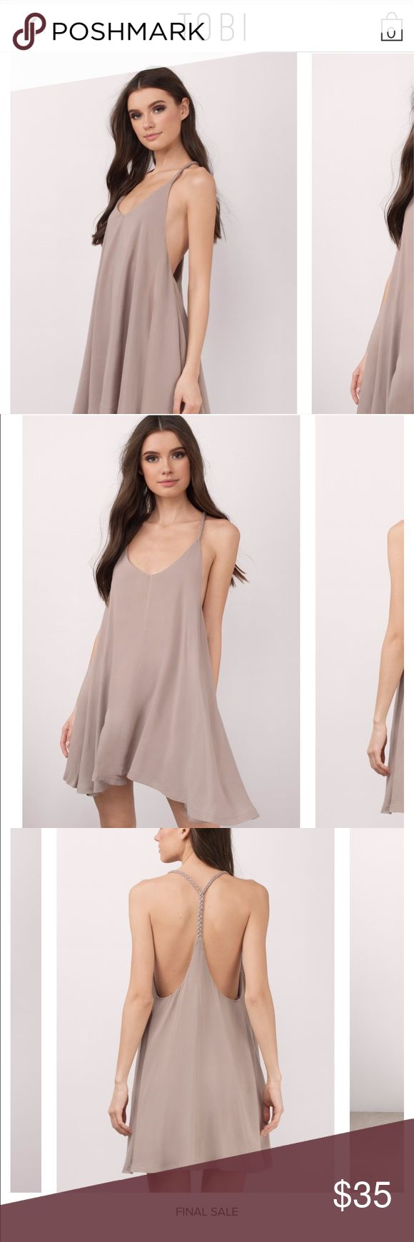 Making that braid taupe braided dress New With Tags! Never been worn beige summer dress Tobi Dresses Midi