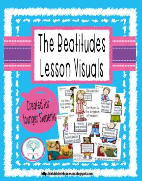 The Beatitudes lesson, visual & more
