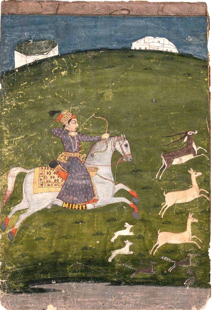 Hunting Scene Mughal school 18th century