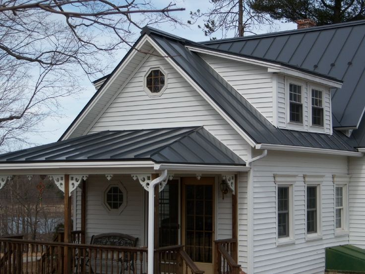17 best images about covered porch on pinterest covered for Metal garage with porch