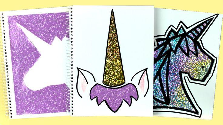 DIY: Holo Unicorn Notebook Covers! DIY Back to School Supplies | Cutify ...