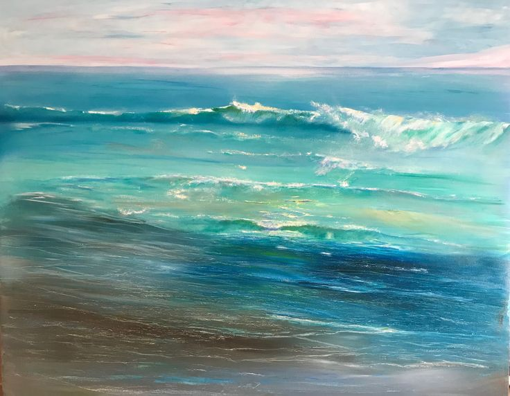Tide is in 1400 x 1200 oil on canvas