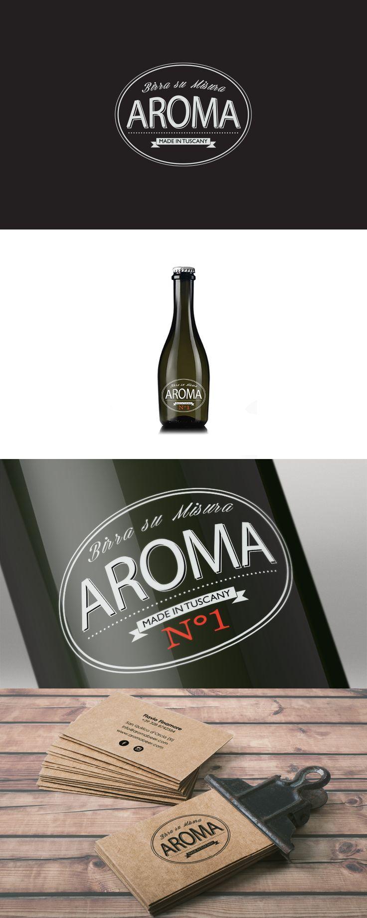 Aroma, Label Design ─ Giulio Patrizi Design Agency ©     #label #design #beer