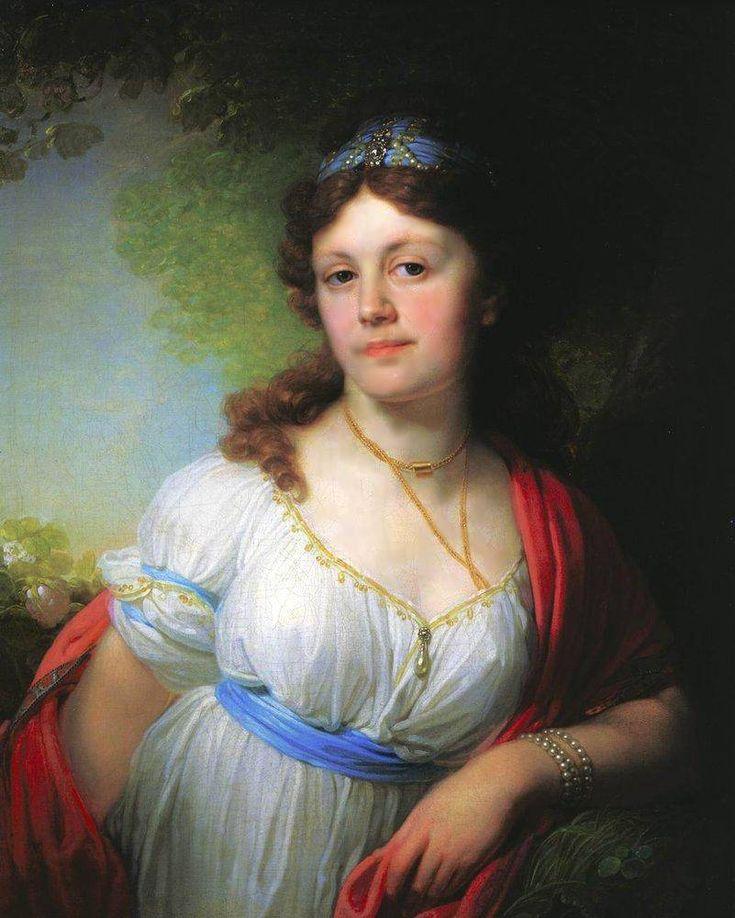 Портрет Е.Г.Тёмкиной Это Елизавета Темкина — дочь Г. А. Потемкина и Екатерины II. Современники находили, что она похожа на отца.   По целому ряду исторических свидетельств, князь Г. А. Потемкин-Таврический и императрица Екатерина II были тайно венчаны. 13 июля 1775 года в Москве императрица, которой было тогда сорок шесть лет, родила дочь. Девочку назвали Елизаветой, по отчеству — Григорьевна, по фамилии — Тёмкина (было принято, отбрасывать первый слог в фамилиях незаконорожденных детей)