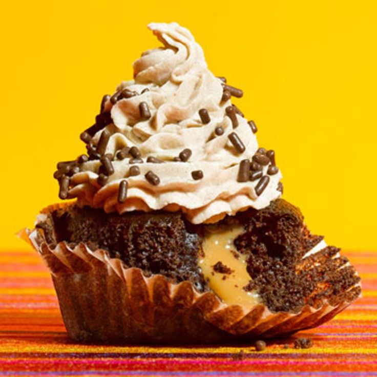 Mexican Chocolate Surprise Cupcakes.