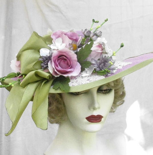 Vintage Ladies Church Hat...Picture it in red and purple.
