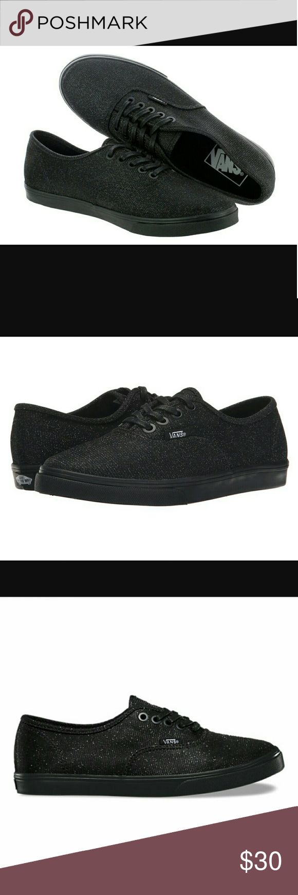 Black glitter vans They were only used once. Vans Shoes Sneakers