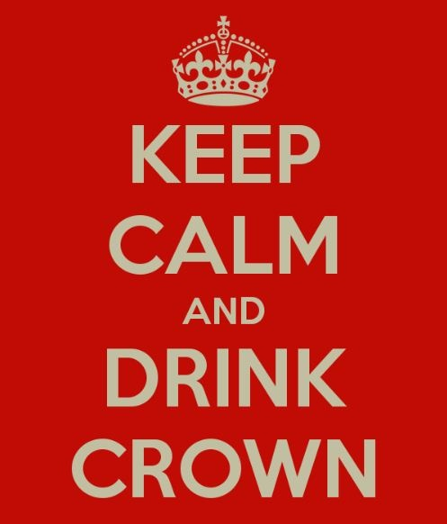 KEEP CALM AND DRINK CROWN