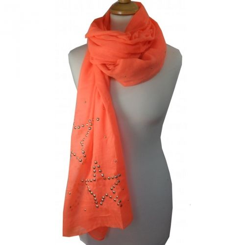 Neon oranje sjaal met studs sterren / Neon orange shawl with studs stars € 6,95 International shipping? Just ask!