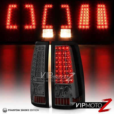 "2003-2006 Chevy Silverado PickUp ""SMOKE"" Rear LED Tail Light Brake Lamp Assembly"