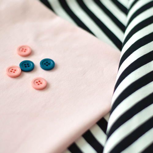 NOSH Organics Fabrics - Midi Stripes, Black/ Vanilla