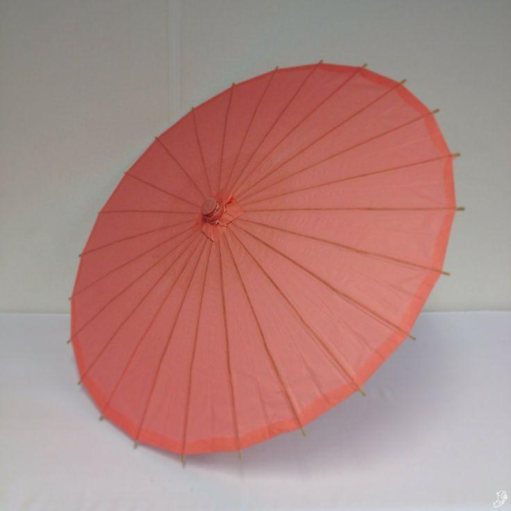 Koraal roze parasol