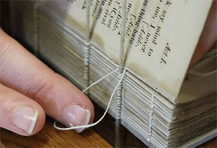 The intricacies of a perfectly bound book.