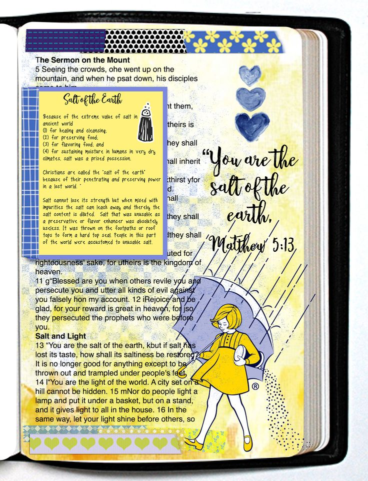 #BibleJournaling #BibleJournalingDigitally learn how to create Bible journaling pages on your computer with Photoshop Elements classes at BibleJournalLove.com Morton Salt Girl Matthew 5:13 Salt of the Earth with Tip-in