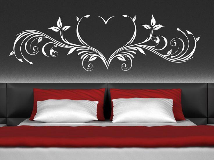 Wandtattoo Herz Ornament romantisch Wandtattoo