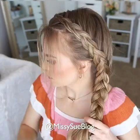 Dutch Side Braid tutorial - #Braid #BraidHairstylespigtails #Dutch #Side #Tutorial #sideBraided