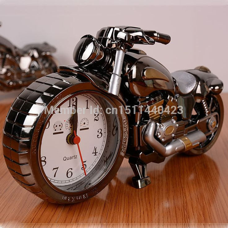 Motorcycle alarm clock motorbike model craft birthday kids for Motorcycle decorations home