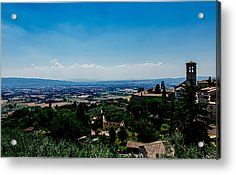 Assisi Acrylic Print by Cesare Bargiggia